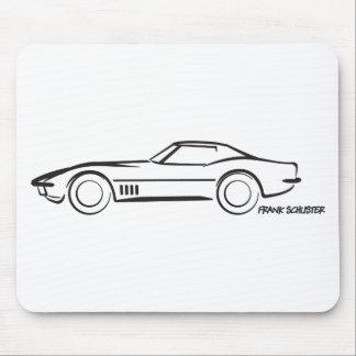 1968 Corvette Hardtop BLK Mousepad