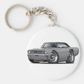 1968 Dart Grey-Black Top Car Basic Round Button Key Ring