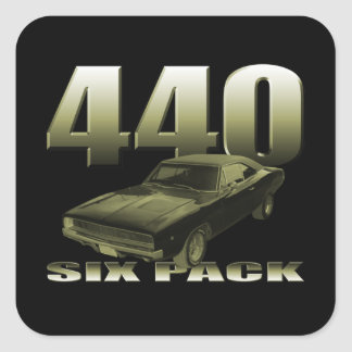 1968 dodge charger 440 six pack square sticker