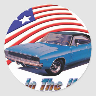 1968 Dodge Charger Born in the USA Sticker