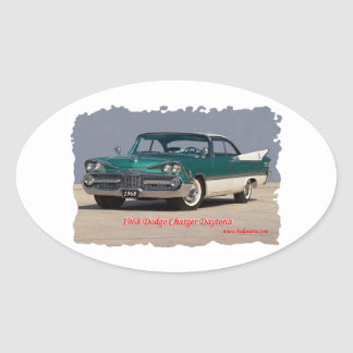 1968 Dodge Charger Daytona Oval Sticker