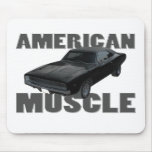 1968 dodge charger r/t american muscle mouse pad