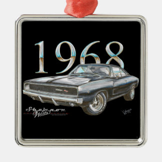 1968 Dodge Charger R/T Christmas Ornament