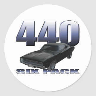 1968 dodge charger rt 440 six pack round sticker