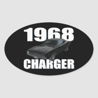 1968 dodge charger rt oval sticker