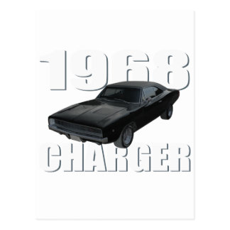 1968 dodge charger rt postcard
