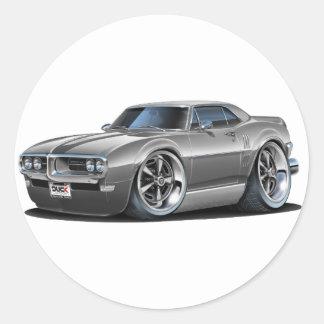 1968 Firebird Grey Car Classic Round Sticker