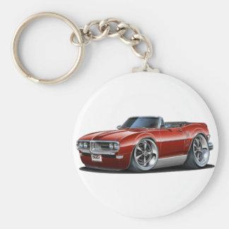 1968 Firebird Maroon Convertible Key Ring