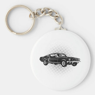 1968 Ford Mustang Fastback Key Chain