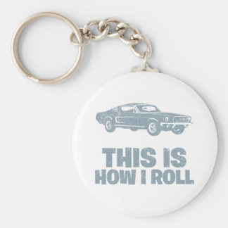 1968 Ford Mustang Fastback Keychain