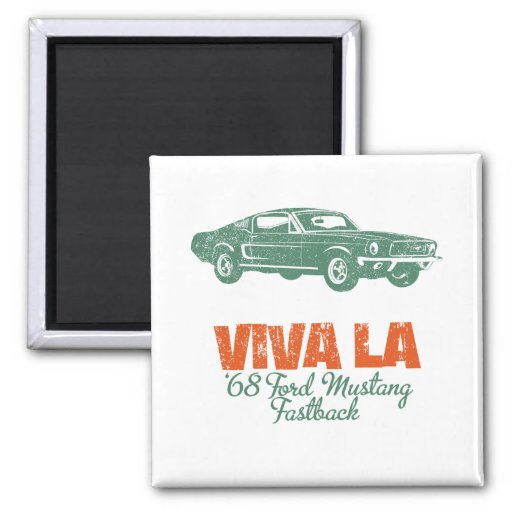 1968 Ford Mustang Fastback Square Magnet