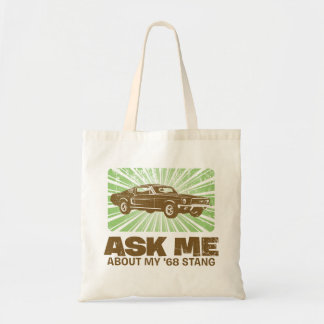 1968 Ford Mustang Fastback Budget Tote Bag