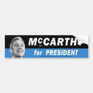 1968 Gene McCarthy for President Bumper Sticker