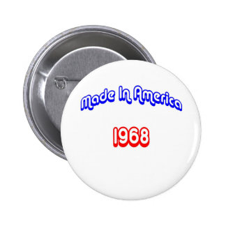 1968 Made In America 6 Cm Round Badge