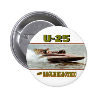 1968 Miss Eagle Electric Hydroplane 6 Cm Round Badge