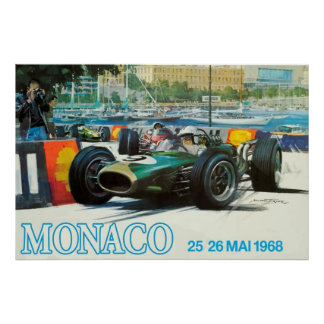 "1968 Monaco Grand Prix Poster (Print up to 60""!)"