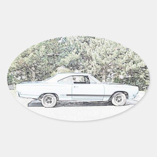 1968 Muscle Car Oval Sticker