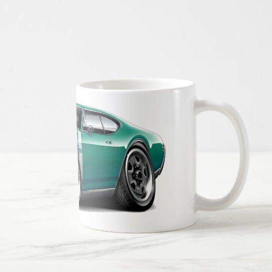 1968 Olds 442 Teal-White Car Coffee Mug