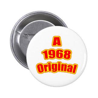 1968 Original Red 6 Cm Round Badge