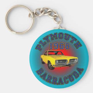 1968 Plymouth Barracuda Keychain. Key Ring