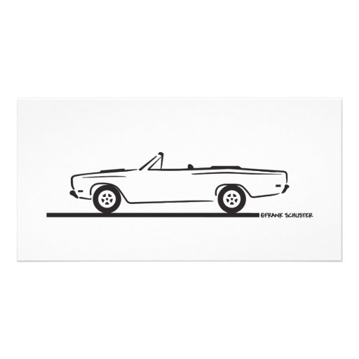 1968 Plymouth Roadrunner Convertible Photo Greeting Card