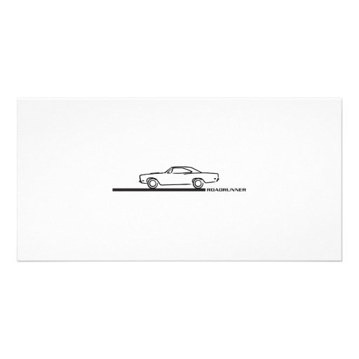 1968 Plymouth Roadrunner Photo Card Template