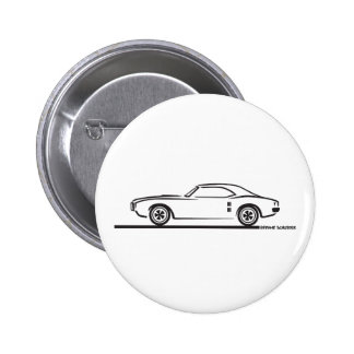 1968 Pontiac Firebird 6 Cm Round Badge