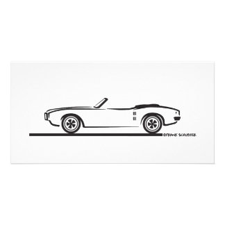 1968 Pontiac Firebird Convertible Personalised Photo Card
