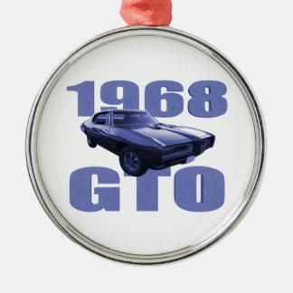 1968 Pontiac GTO Blue Christmas Ornament