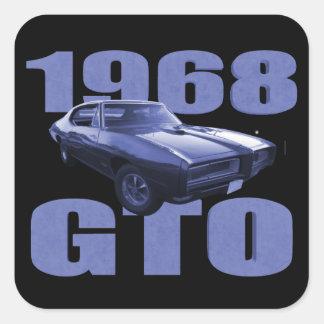 1968 Pontiac GTO Blue Square Sticker