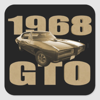 1968 Pontiac GTO Muscle Car Gold Stickers