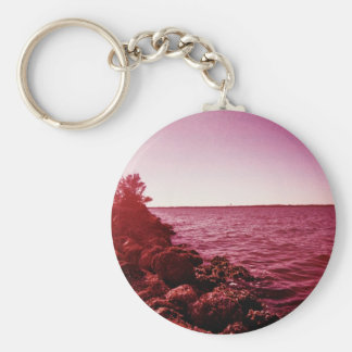 1969 Bay Day Basic Round Button Key Ring