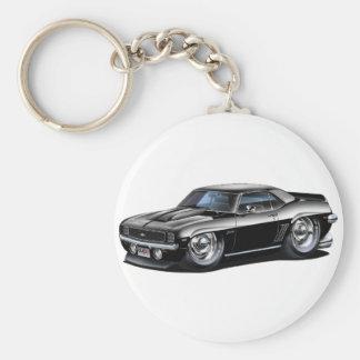 1969 Camaro Black Car Basic Round Button Key Ring