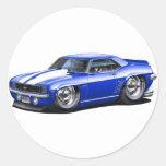 1969 Camaro Blue-White Car Stickers