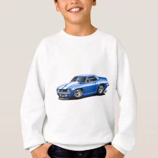 1969 Camaro SS Blue-White Car Sweatshirt
