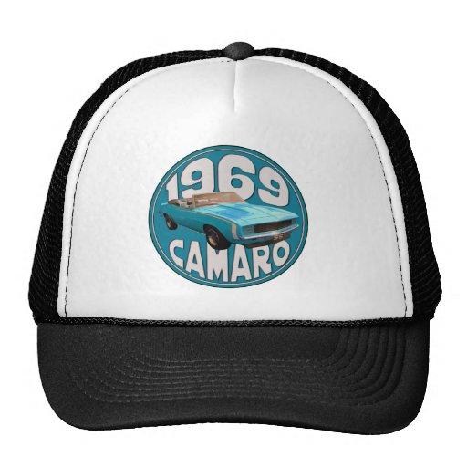 1969 Camaro SS Light Blue Rag Top Trucker Hats