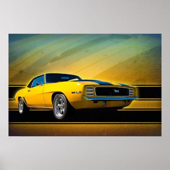 1969 Camaro SS Poster