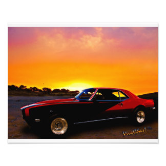 1969 Camaro Up At Rocky Ridge For Sunset Photo Print