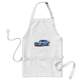 1969 Chevelle Light Blue-White Car Standard Apron