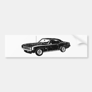 1969 Chevrolet Camaro SS Bumper Sticker