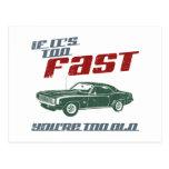 1969 Chevrolet Camaro SS Postcard