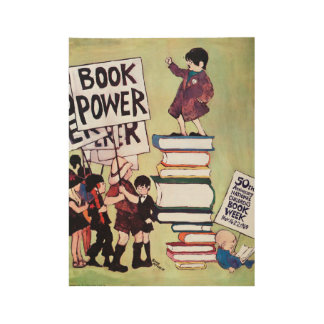 1969 Childrens' Book Week Wood Poster