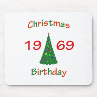 1969 Christmas Birthday Mouse Pads
