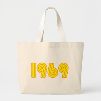 1969 design (40th birthday) large tote bag