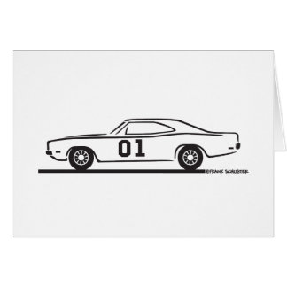 1969 Dodge Charger General Lee Greeting Card