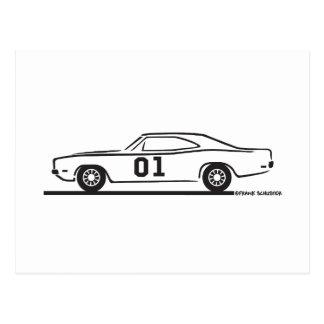 1969 Dodge Charger General Lee Postcard