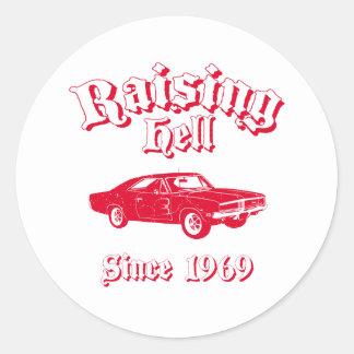 1969 Dodge Charger R/T SE Round Sticker