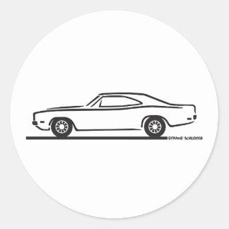 1969 Dodge Charger Round Sticker