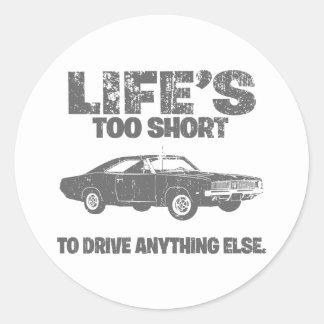 1969 Dodge Hemi Charger Classic Round Sticker