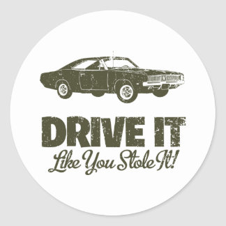 1969 Dodge Hemi Charger Round Stickers
